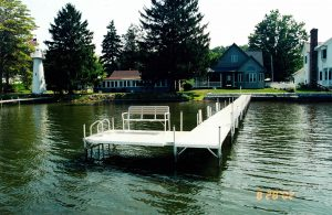 Residential Boat Docks on Conneaut Lake