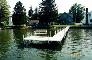 Residential Boat Docks on Conneaut Lake