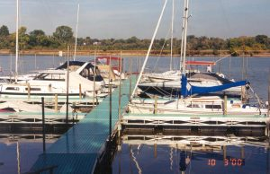 floating docks on the Maumee River