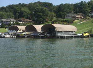 Vertical Boat Lift, Lake Mohawk docks and lifts
