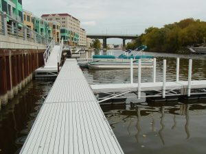 Milwaukee River frame docks