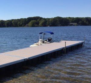Docks on Bass Lake Ohio