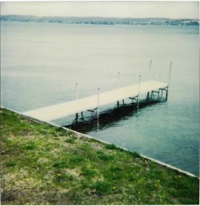 stationary dock; Aluminum pier sections on the Finger Lakes