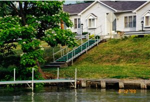 Lake Milton Docks and Lifts, dock steps with handrails
