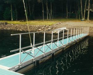 Floating aluminum gangway at Lake Wallenpaupak Docks and Lifts