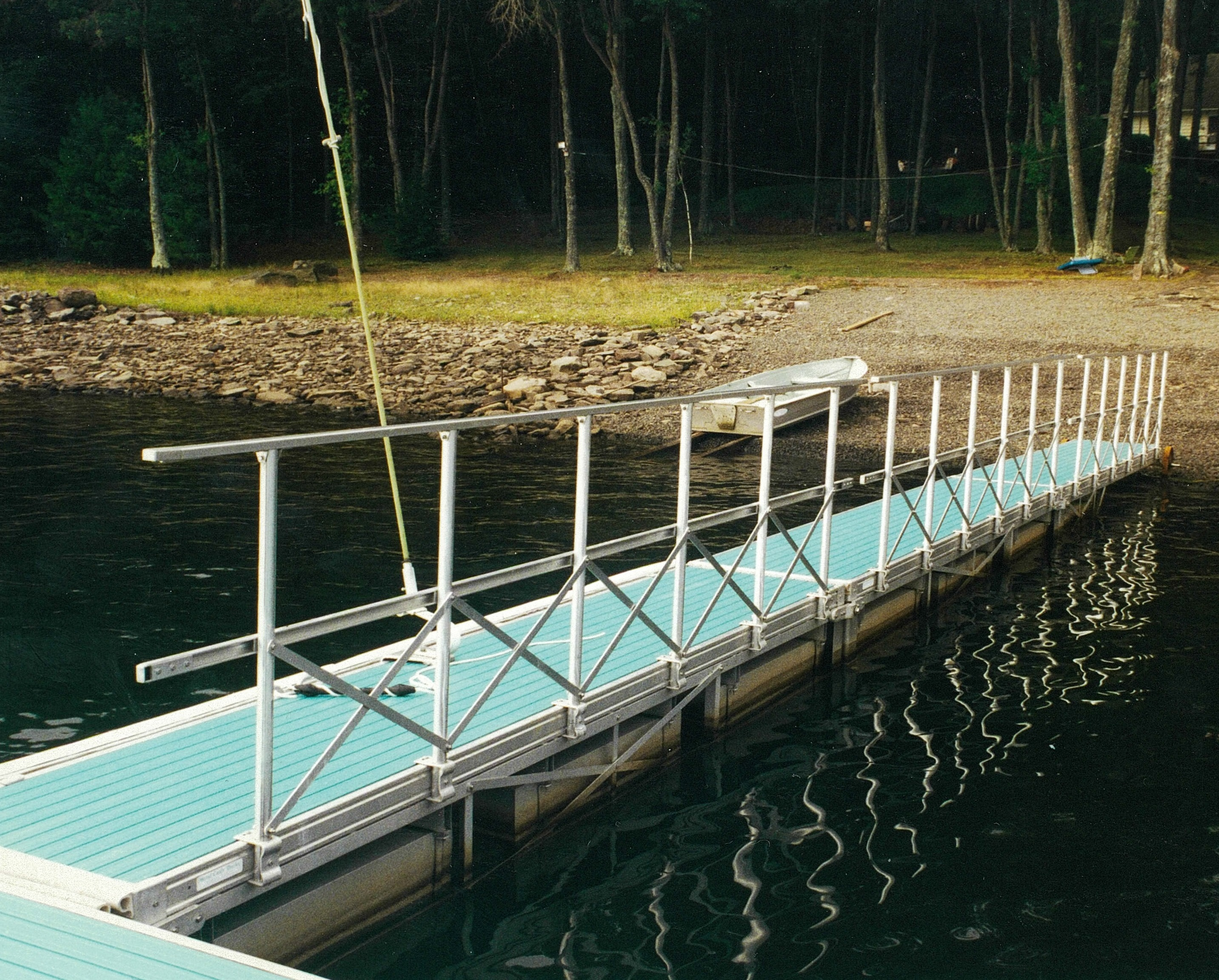 Lake Wallenpaupak Docks and Lifts for floating truss frame