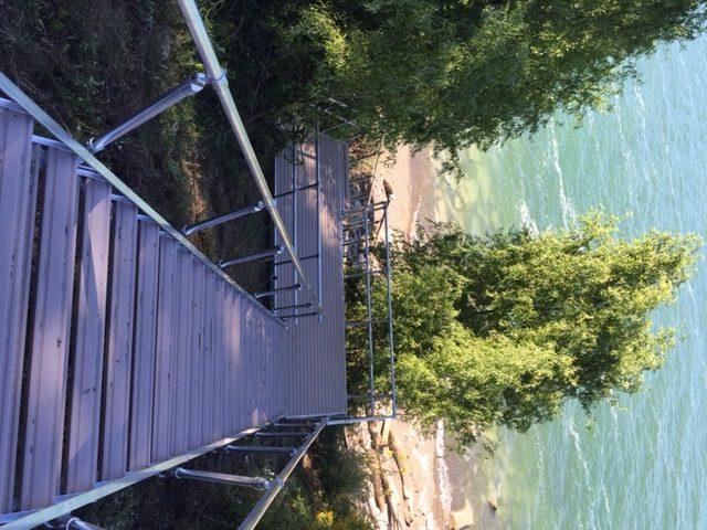 Aluminum Stair System on Lake Erie Shoreline