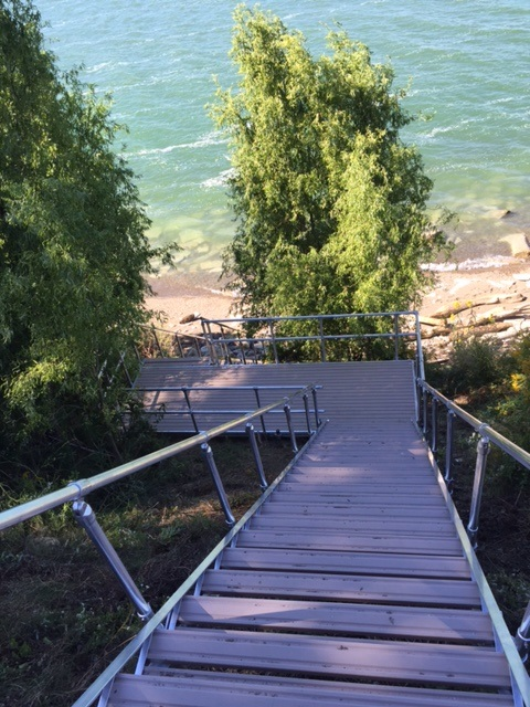 Aluminum Stair System on Lake Erie Shoreline