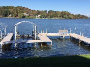 Harveys Lake Vertical Boat Lift