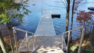 aluminum docks with plastic floats New Hampshire