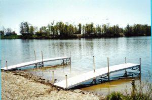 Seneca Lake aluminum boat docks