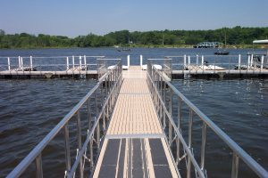 Floating Docks on Dale Walborn Reservoir