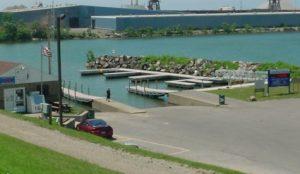 Floating Boat Docks in Lake Erie